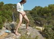 Petite czech girl peeing like a boy