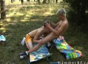 Cute boys having outdoor gay porn