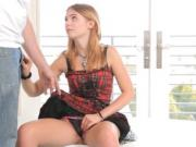 Adorable Jenny has a GOTH thing going on Youll love the sexy way she spreads her legs sucking cock