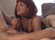 Amateur redhead blowjob swallows every drop