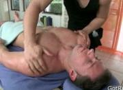 Dude gets massaged and toy fucked
