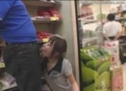 Asian Public Store Blowjob
