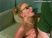 MILF - Eyeglasses Get Covered With Cum