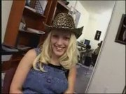 Cowgirl plays with a cock