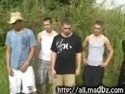 Outdoor 5 Straight Guys Orgy