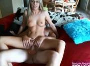 Amateur blonde Brittany rides big dick