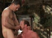 Muscled guy strung and hung gay BDSM