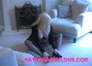 Amateur Wife In Fully Fashioned Silk Stockings