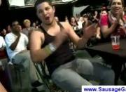 Talented male strippers getting blowjobs