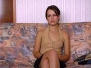 cute teen Anna in anal hardcore casting