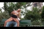 Public - public sex by Eiffel Tower the world famous la