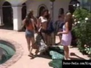Incredible Lesbian Pool Orgy with Charlie Laine Je