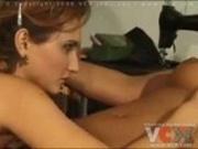 Super hot lesbian scene with scissor fucking