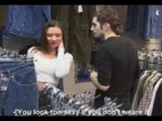 Russian Teen quick fuck in cloth store