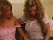 Piss: Two hot blondes pissing on each other