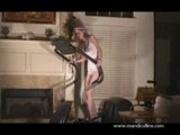Mandi Collins on a treadmill