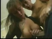Beautiful big breasted women and a guy