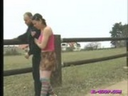 euro clip of older man with younger girl