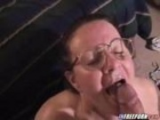 Nerdy Mature Blowjob