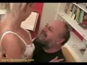 Amateur - Blond hottie having sex with older dude
