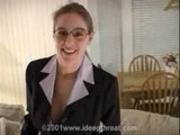 Heather Business Suit BJ - CUM IN MOUTH
