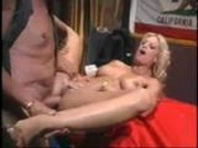 Hot blonde mature fucks old man