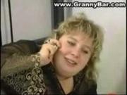 BBW Blonde Mature Granny Anal Sex
