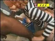 Redhead vixen gangbanged by 5 black guys