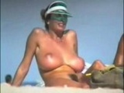 Beach Voyeur of Large Natural Breasts