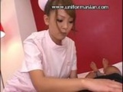 Asian cute huge boobs nurse in uniform sex