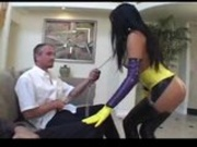 Patricia Petite anal fucking in Latex Whore