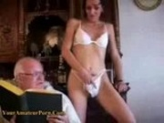 OldFart Lucky guy fucking a Young girl
