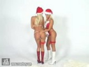Sophie and Sandy - Christmas Fisting
