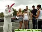 Easter Bunny Sex during Egg Hunt