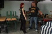 Redheaded Tattoo babe getting royal fucked