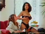 Angelica Bella oil massaged and fucked in a FFM th