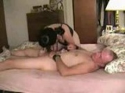 Homemade - Handcuffed dude fucked by mistress