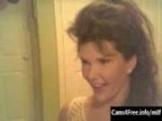 Hot MILF Masturbates & Cums with Dildo on Webcam!