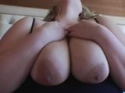 Adorable blond BBW enjoying herself
