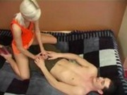 Blondie give a Massage