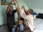 Hot Drunk Blonde Banged by Two Guys
