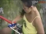 Incredible high suspension fucking