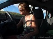 Car Masturbation With Multiple Orgasms