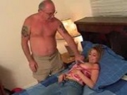 grandpa getting an afternoon bj from niece