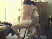 Amature Sex on a chair naked40scouple