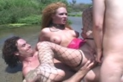 Audrey Hollander doublefucked in the dirt