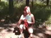 Piss: Redhead pees in woods