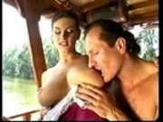 Busty DP oh a boat