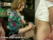 mature russian slut gangbanged by a group of young