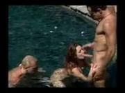 Wet threesome orgy anal style!